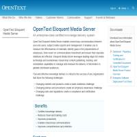 Open Text Eloquent Media Server image